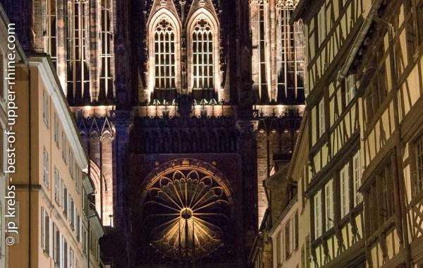 Cathédrale de Strasbourg en habits de lumière