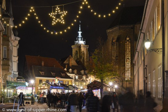 L'un des 5 marchés de Noël de Colmar.