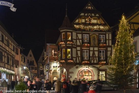 Kaysersberg, un soir de week-end en décembre