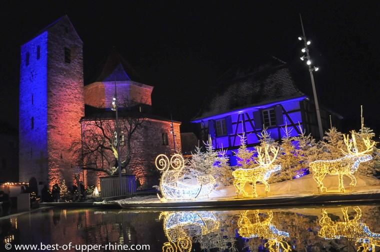 Illuminations de Noël à Ottmarsheim