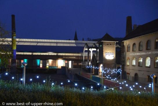 Le Centre International d'Art Verrier de Meisenthal est installé dans l'ancienne verrerie historique.