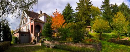 Panorama sur le jardin à l'automne…