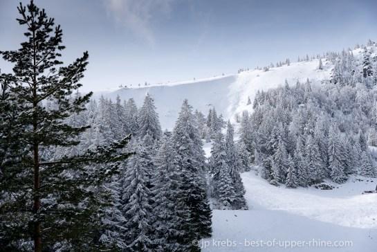 Le site du Tanet en hiver.