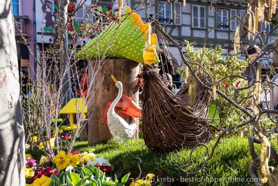 Décoration florale et printanière à Colmar