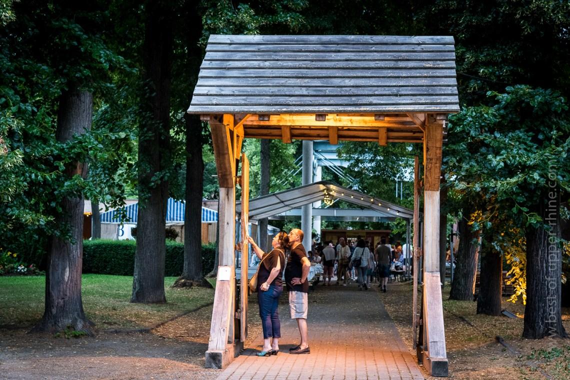 Accès à la salle du Parc et au jardin de ville de Ribeauvillé