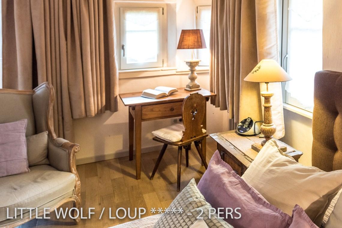 Le loup à riquewihr - appartement 5 étoiles la chambre