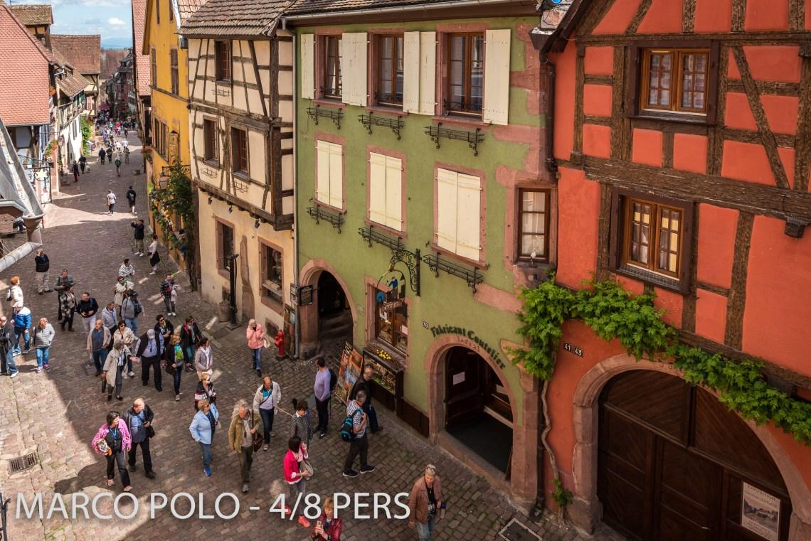 Le Marco Polo à riquewihr - appartement 5 étoiles vue sur la rue principale de Riquewihr