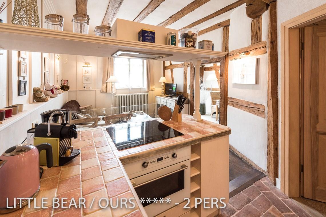 L'ours à riquewihr - appartement 5 étoiles vue sur la cuisine