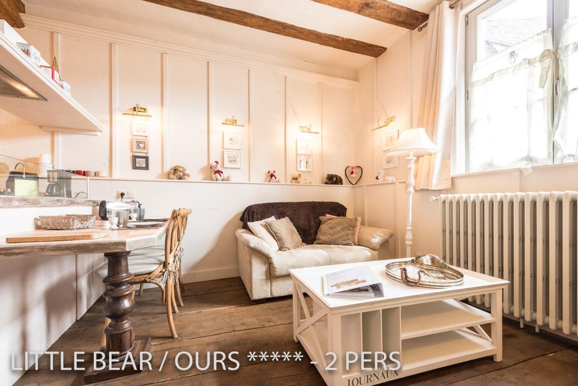 L'ours à riquewihr - appartement 5 étoiles vue sur le salon