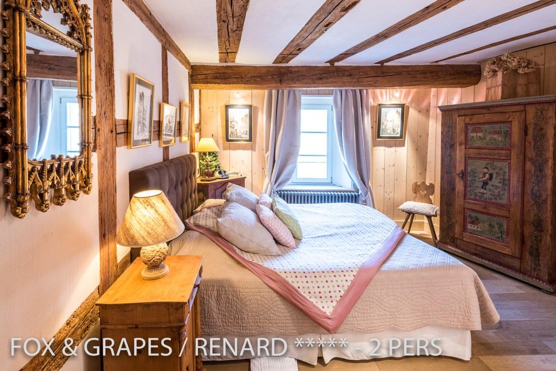Le Renard et les Raisins à riquewihr - appartement 5 étoiles vue sur la chambre