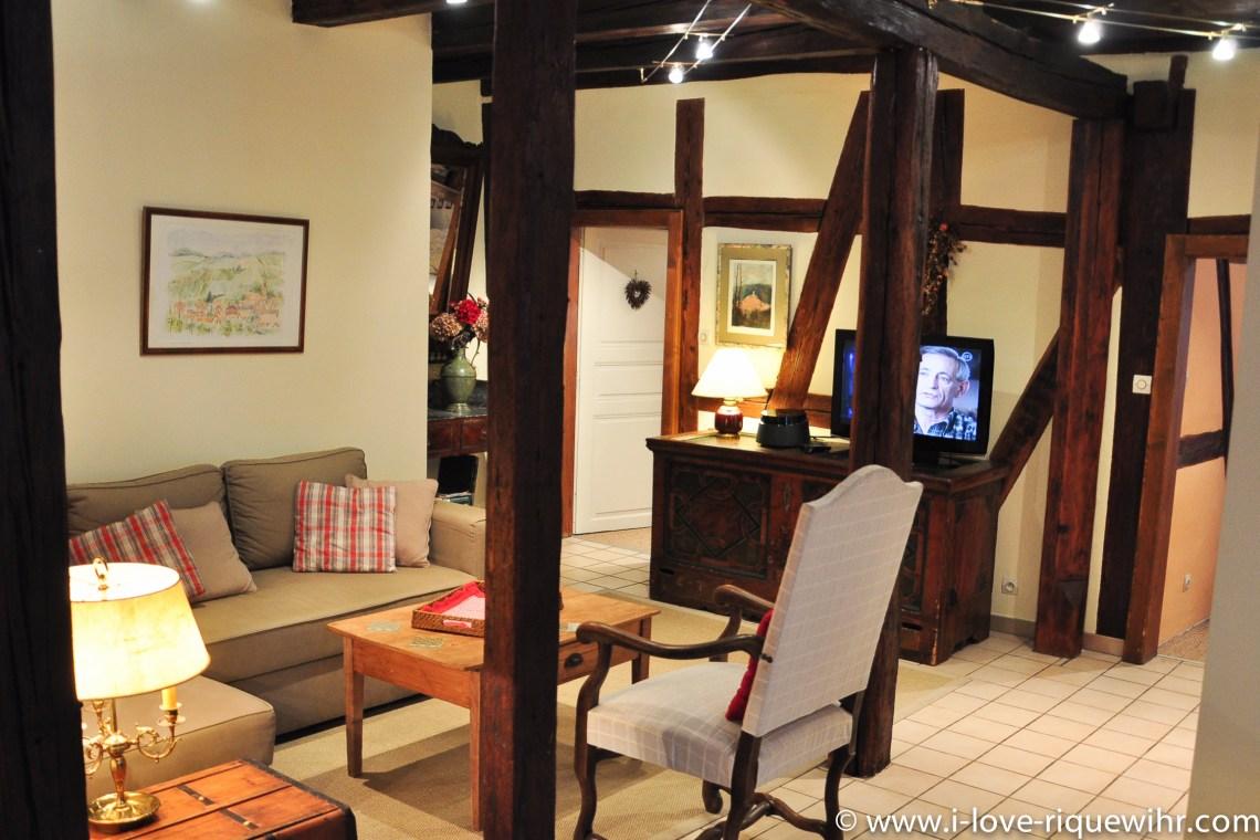Le Riesling à riquewihr - appartement 5 étoiles vue sur le salon
