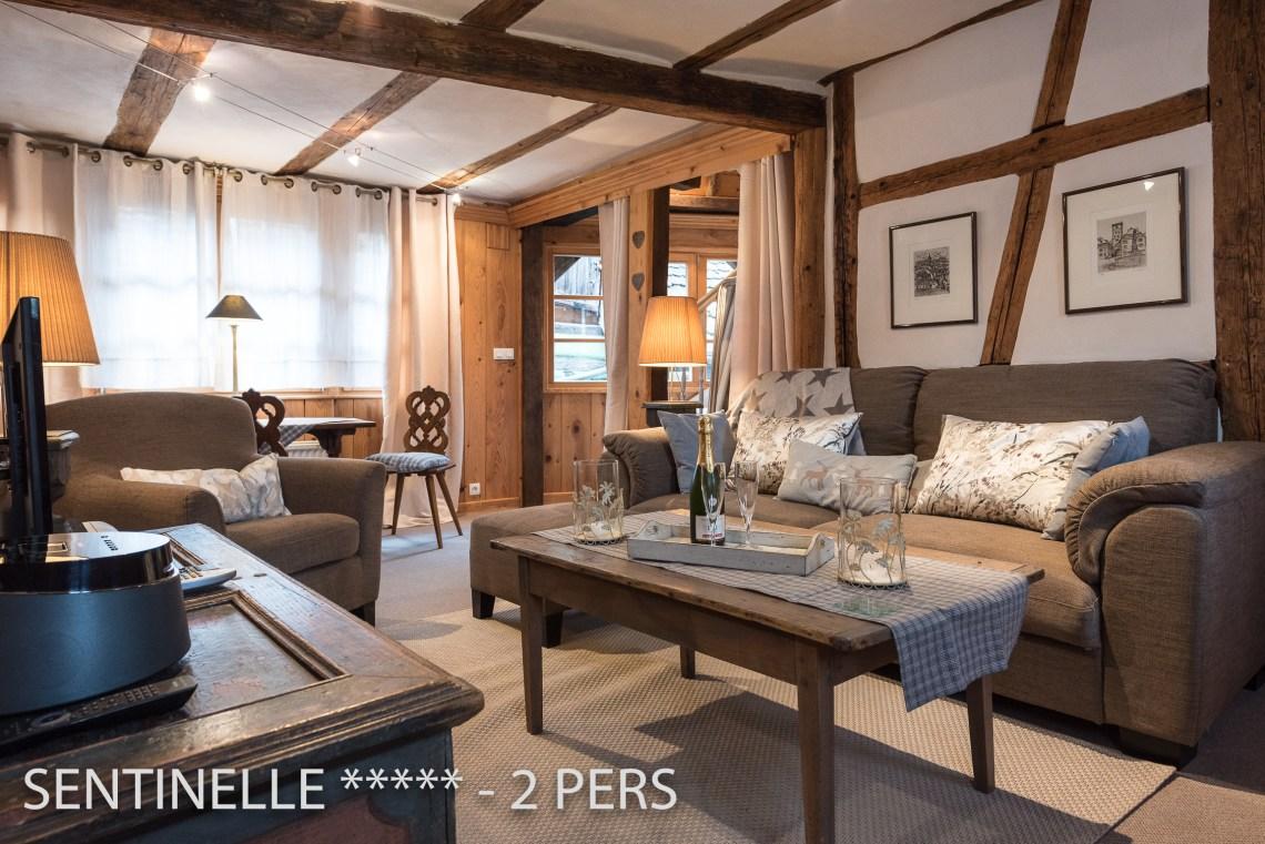 La Sentinelle à riquewihr - appartement 5 étoiles vue sur le salon