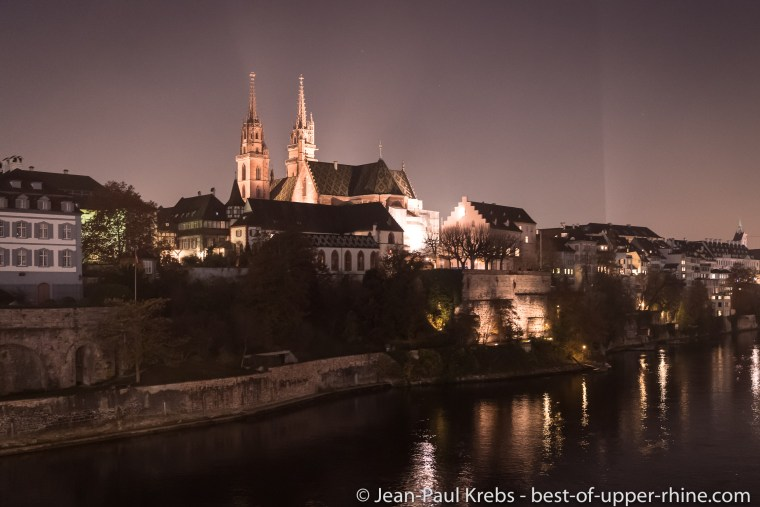 Le Rhin et la cathédrale de Bâle.