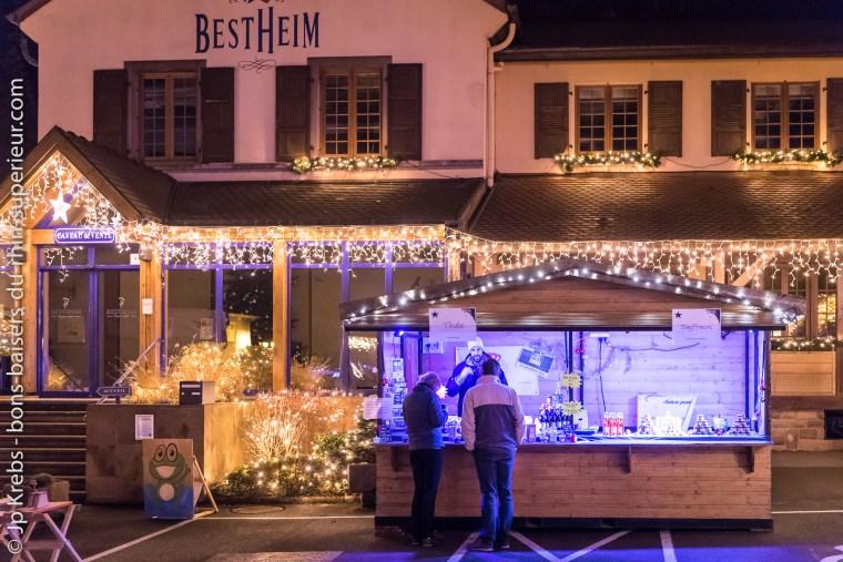 Marché de Noël gourmand à la cave Bestheim à Bennwihr en Alsace