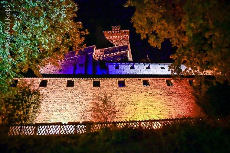Le château du Haut-Koenigsbourg dans la nuit de Halloween