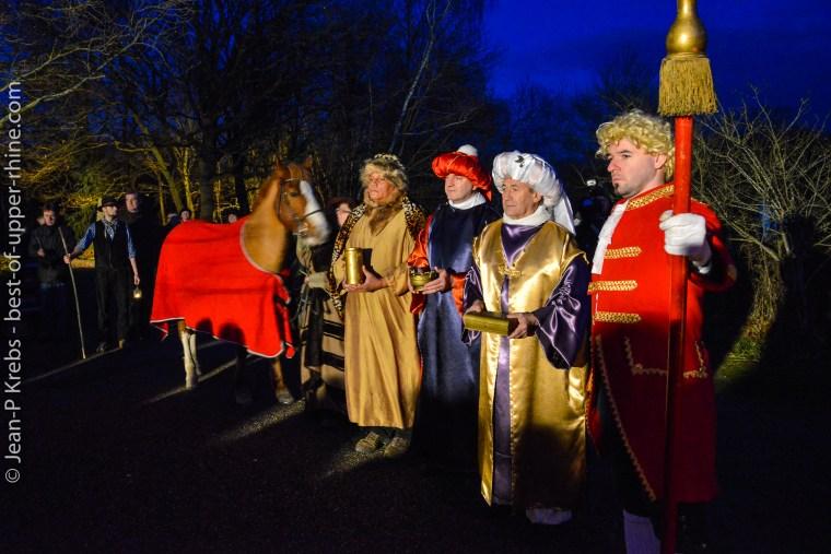 Les rois Mages arrivent à l'Ecomusée d'Alsace