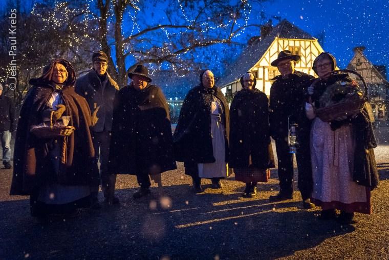 Avec les habitants de l'Ecomusée d'Alsace à la période de Noël