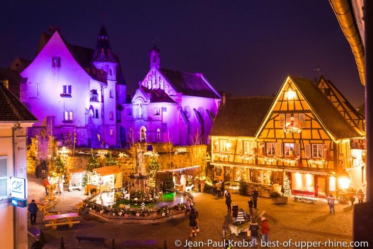Eguisheim, place du château en décembre