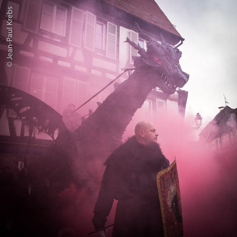 Le grand dragon noir de Ribeauvillé