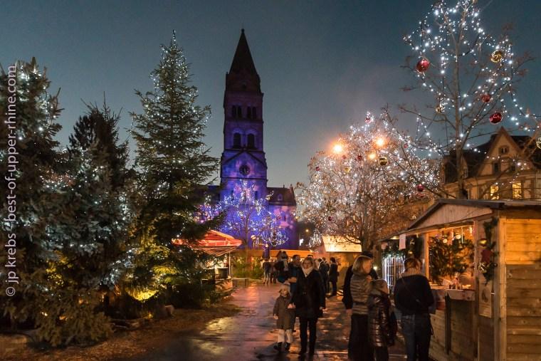 Le marché de Noël de Munster, ambiance de Noël et odeur de vin chaud au rendez-vous.