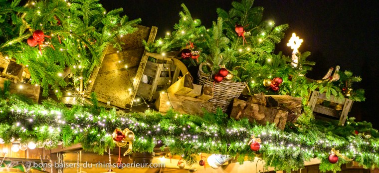 Noel decors de branches de sapins