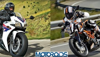 Honda-cbr400r-vs-ktm-duke-390