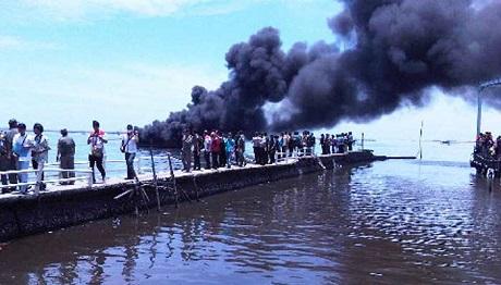 kapal pengangkut sabu seberat 862 kg diledakkan