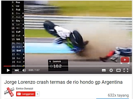 Vidio-Lorenzo-Crash-di-FP-4-GP-Argentina