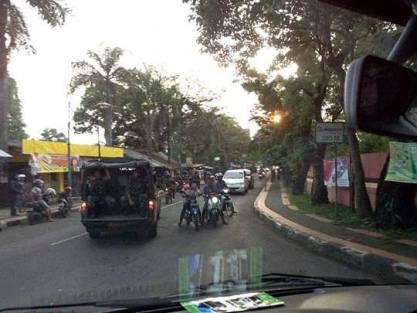 sweeping geng motor di subang oleh TNI
