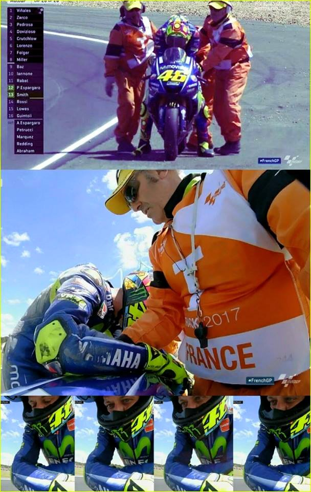 crash rossi di le mans