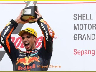 Miguel Oliveira di Podium Sepang International Circuit 2017