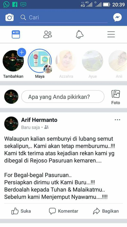 begal rejoso pasuruan