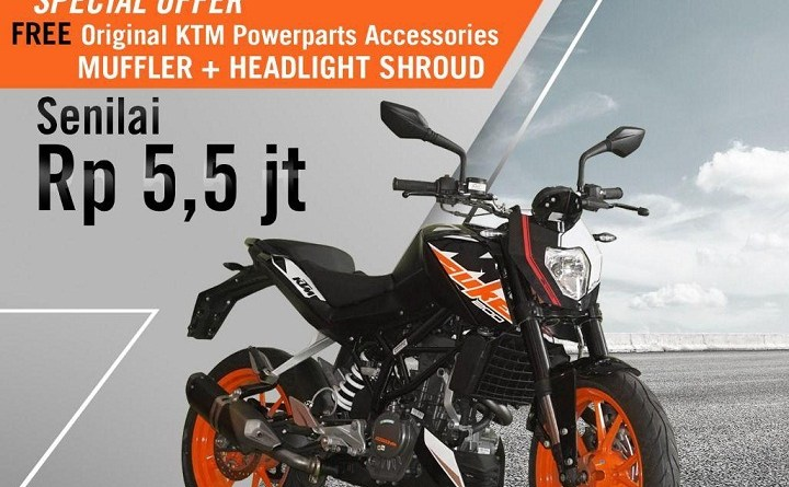 KTM Duke 200 Oktober Special Offer Sampai 5,5 Juta!