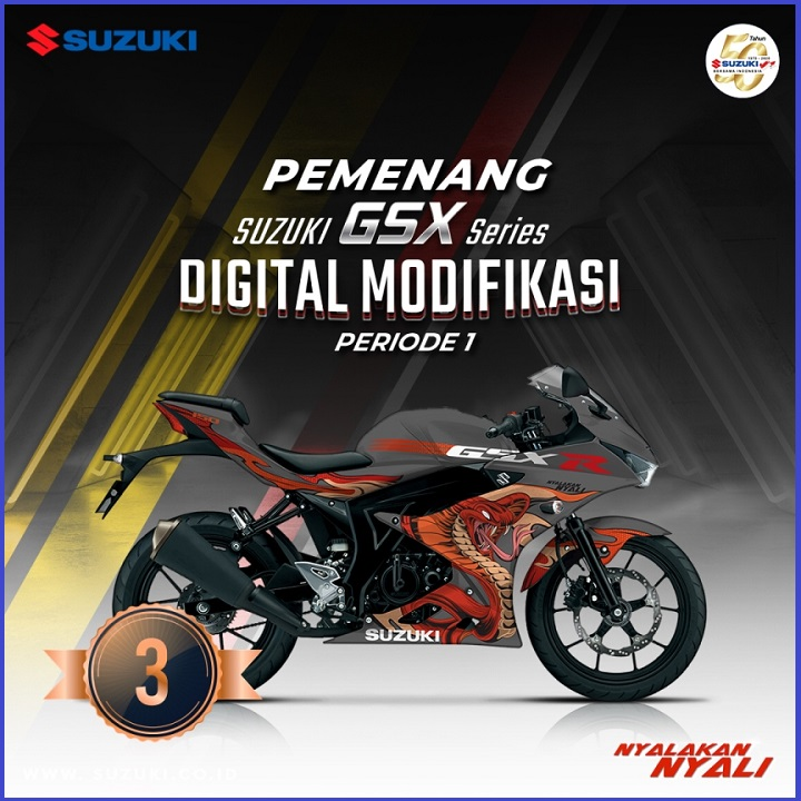 Juara 3 Suzuki GSX Series Digital Modifikasi Periode 1