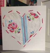 Fabric heart card