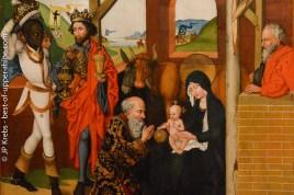 Adoration des roisMages. Martin Schongauer et ses disciples. Musée Unterlinden à Colmar.