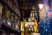 Riquewihr à l'époque de Noël. Ambiance magique garantie.