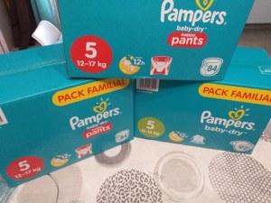 3 cartons de couches Pampers pour seulement 8.54€