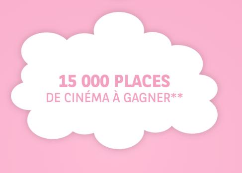 15 000 places de cinéma à gagner en instant gagnant