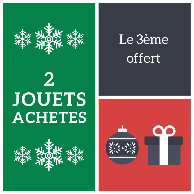 Read more about the article 2 jouets achetés = le 3ème offert