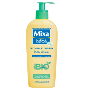 You are currently viewing Test gel corps et cheveux bio Mixa
