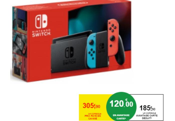 Super promo sur la Nintendo Switch chez Intermarché