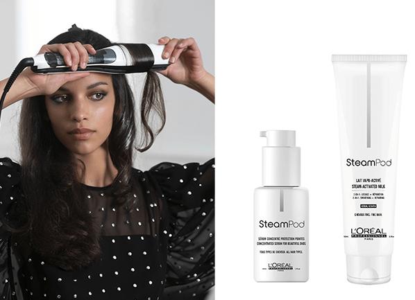 Test : lisseur Steampod et les soins cheveux