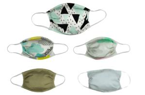 Lots de 5 masques réutilisables en bambou bio de la marque SDI Paris