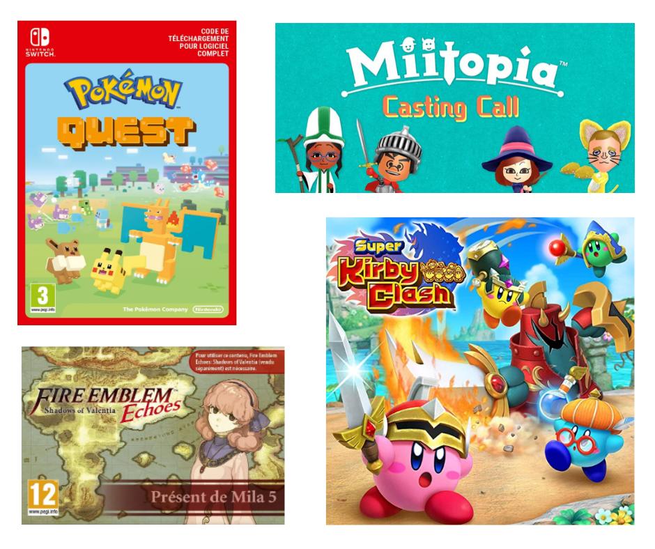 Jeux gratuits à télécharger pour 3DS et Switch
