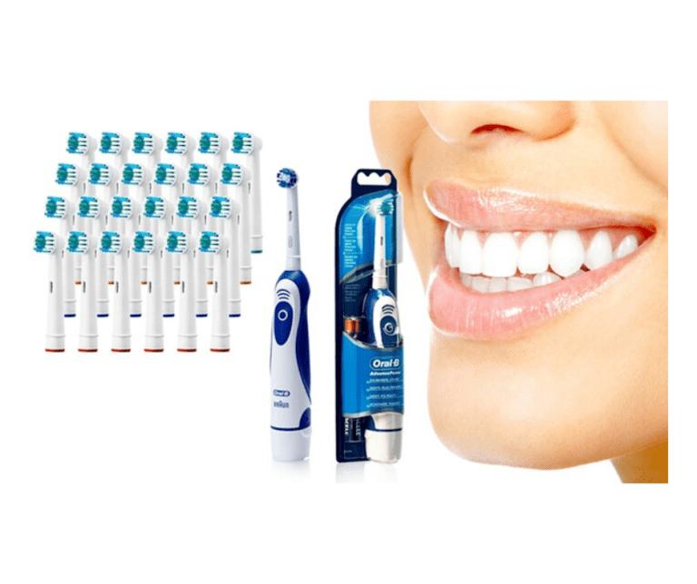 Read more about the article Bon plan brosse à dents électrique Oral B Advanced Power 400 Braun avec 24 têtes de rechange compatibles Oral B