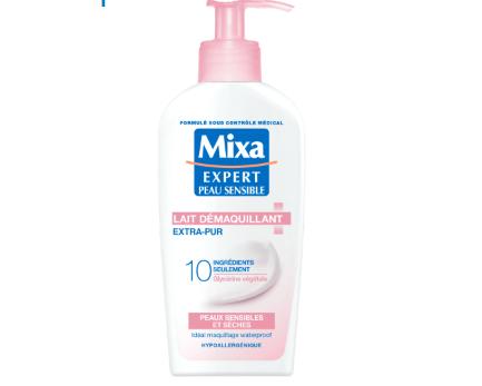 Read more about the article Test lait démaquillant Extra-Pur Antidessèchement  de Mixa