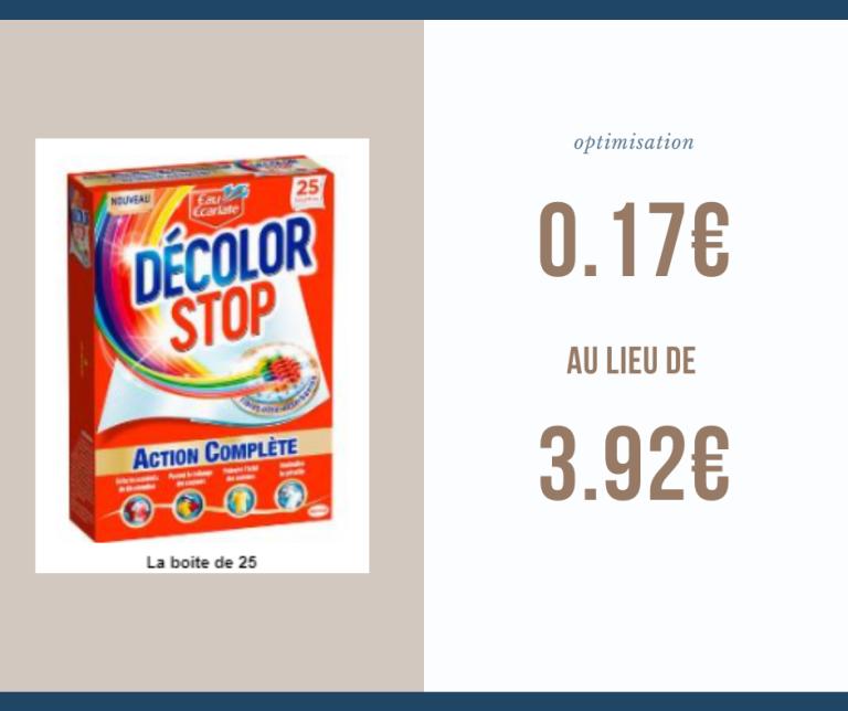 Read more about the article Optimisation du jour : la boite de 25 lingettes décolor stop