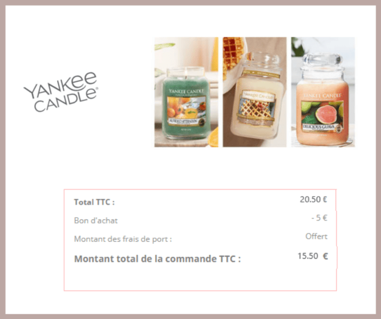 Read more about the article Bon plan Yankee Candle