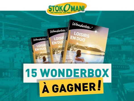 Read more about the article Concours : 15 wonderbox à gagner avec Stokomani !